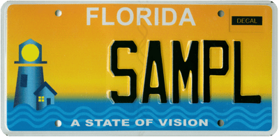 A State of Vision specialty license plate
